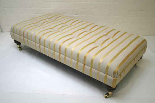 Hand Made Custom Footstool - Laura Ashley Luxford Camomile